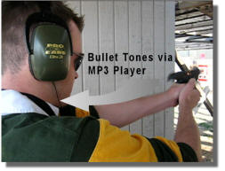 Using Bullet Tones with your MP3 player at the Range
