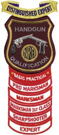 NRA Handgun Qualification patch with rockers